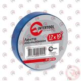 изолента 10м х 17мм х 0,15мм синяя Intertool