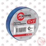 изолента 15м х 17мм х 0,15мм синяя Intertool