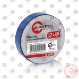 изолента 20м х 17мм х 0,15мм синяя Intertool