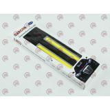 ходовые огни 12V DRL COB 140х15мм WHITE хром