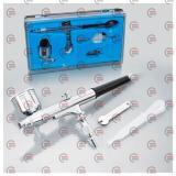аэрограф MINI d-0.3 с верх. металл. бачком 70мл, пипетка-дозатор, ключ регул. (футляр)
