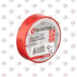 изолента 10м х 17мм х 0,15мм красная Intertool