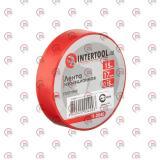 изолента 15м х 17мм х 0,15мм красная Intertool