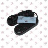удлинитель электрический колодка   5м, 10А, 3 гнезда  (2х0,75мм²) карболит, черный