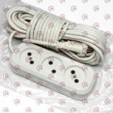 удлинитель электрический колодка  10м, 10А, 3 гнезда, ПВС