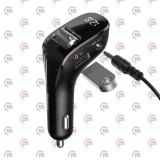 FM модулятор Baseus CCF40-01  USB/MP3/12-24В/USB зарядка 2А/Bluetooth 5.0