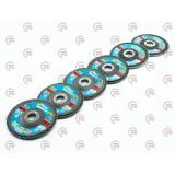 круг шлифовальный лепестковый торцевой наждачный 125мм (зерно  80) (Т29) TITAN ABRASIV